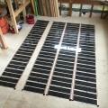 鹿児島市のリフォーム現場でエコクリーンホット(床暖房)の工事がありました。